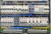 Electrical panel with fuses closeup — Stock Photo