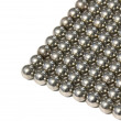 Steel balls arranged in rows — Stock Photo
