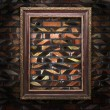 Royalty-Free Stock Photo: Old picture frames on the brick wall