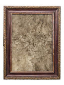 Old picture frames with cracked canvas — Stock Photo