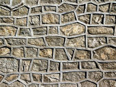 Stone wall reinforced cement — Stock Photo