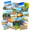 Stock Photo: Collage of many pictures lying in heap