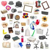 Semplice collage di oggetti isolati — Foto Stock