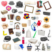 Simple collage of isolated objects — Stok fotoğraf