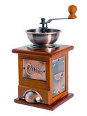 Manual coffee grinder in a retro style — Stock Photo