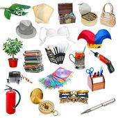 Eenvoudige collage van geïsoleerde objecten — Stockfoto