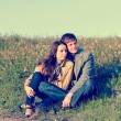 Outdoor Portrait of young couple - Stock Photo