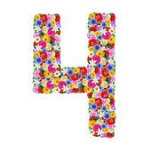 Número 4 de uma flores diferentes — Fotografia Stock
