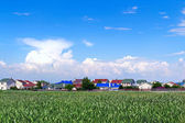 Suburban cottage settlement — Stock Photo