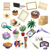Enkel collage av enstaka objekt — Stockfoto