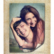 Vintage photo of a young couple in love — Stock Photo