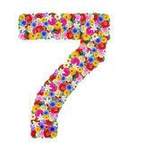 Nummer 7 van een verschillende bloemen — Stockfoto