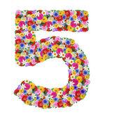 5 количество различных цветов — Стоковое фото