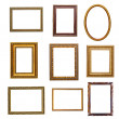 Stock Photo: Set of vintage frames in retro style