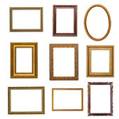 Set of vintage frames in retro style — Stockfoto