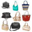 Set women's handbags — Stock Photo