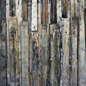 Grunge background with wooden scrap materials — Stock Photo