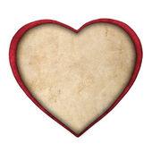 Rött papper hjärta isolerad på vit bakgrund — Stockfoto