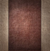 Combined stitched leather background — Stock Photo