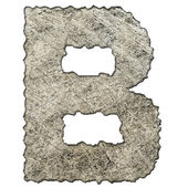 Old scratched metal letter T — Stock Photo