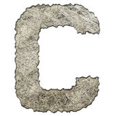 Old scratched metal letter T — Foto Stock