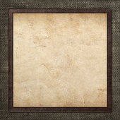 Combined vintage  card on grungy  linen background — Stockfoto