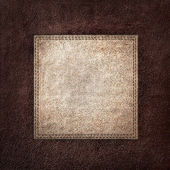 Combined stitched leather background — Foto Stock