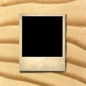 Foto antigua de estilo en el fondo de arena de mar — Foto de Stock