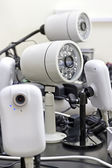 CCTV cameras pre-wired — Stockfoto