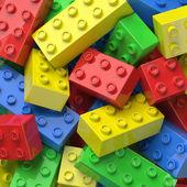 Colorful plastic blocks — Stock Photo
