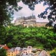 Vianden castle and town in Luxembourg — Stock Photo