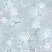 Seamless frozen background with snowflakes — Stock Vector