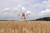 Girl in the field — Stock Photo