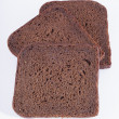 Three slices of rye bread - Stock Photo