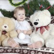 Little girl with teddy bear — Stock Photo #25586717