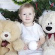 Stock Photo: Little girl with teddy bear