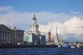 Russia. St. Petersburg. View of the Cabinet of Curiosities, the city islands and the Peter and Paul Fortress — Stock Photo