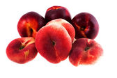 Nectarines, isolated on white background — Stock Photo