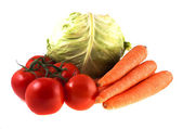 Fresh vegetables on white background — Stock Photo