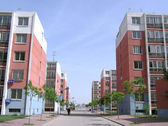 Residents residential buildings — Stock Photo
