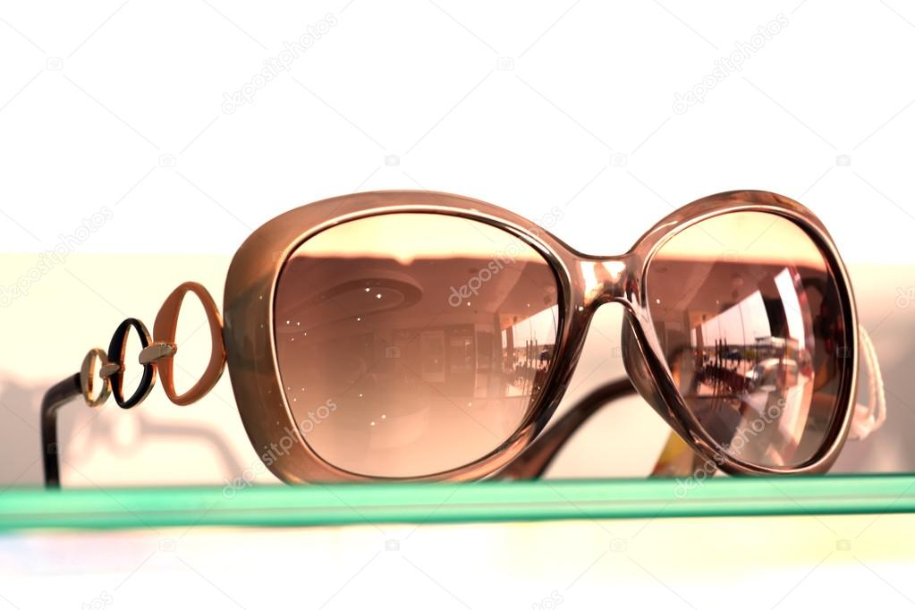 Closeup of glasses in white background — Stock Photo #12693139
