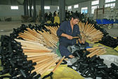 Stalen schoppen productielijn — Stockfoto