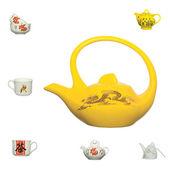Chinese ceramics product icon — Stock Photo