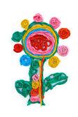 Tournesols en papier couleur — Photo