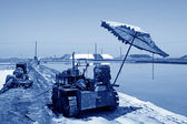 Salt production machinery — Stock Photo