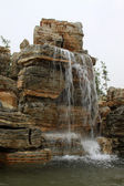 Waterfall in a geological park — Stock Photo