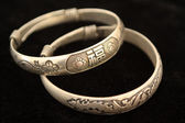 Silver bracelet — Stock Photo