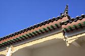 Os beirais dos edifícios antigos — Foto Stock