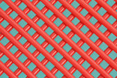 Red metal fence — Stock Photo