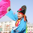 Stock Photo: Yangko performances during Spring Festival, north china.